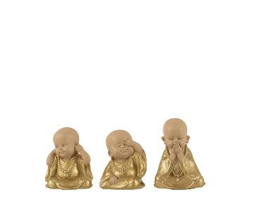 J-Line Decoration Monks Hear See Silence