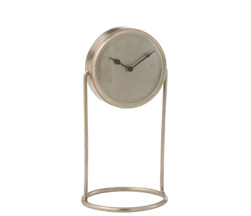 J-Line Table Clock Retro Silver Large