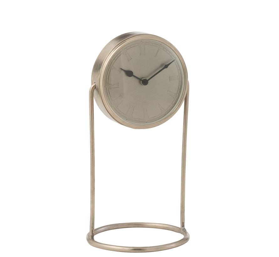 Table Clock Retro Silver Large