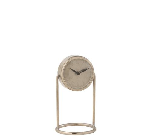 J-Line Table Clock Retro Silver Small