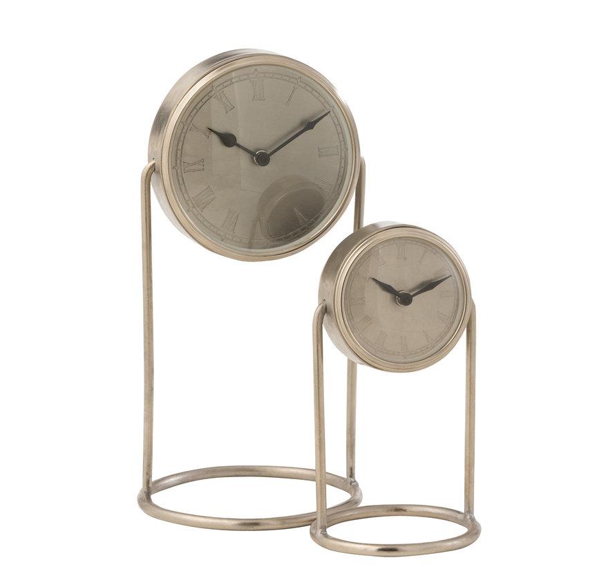 Table Clock Retro Silver Small
