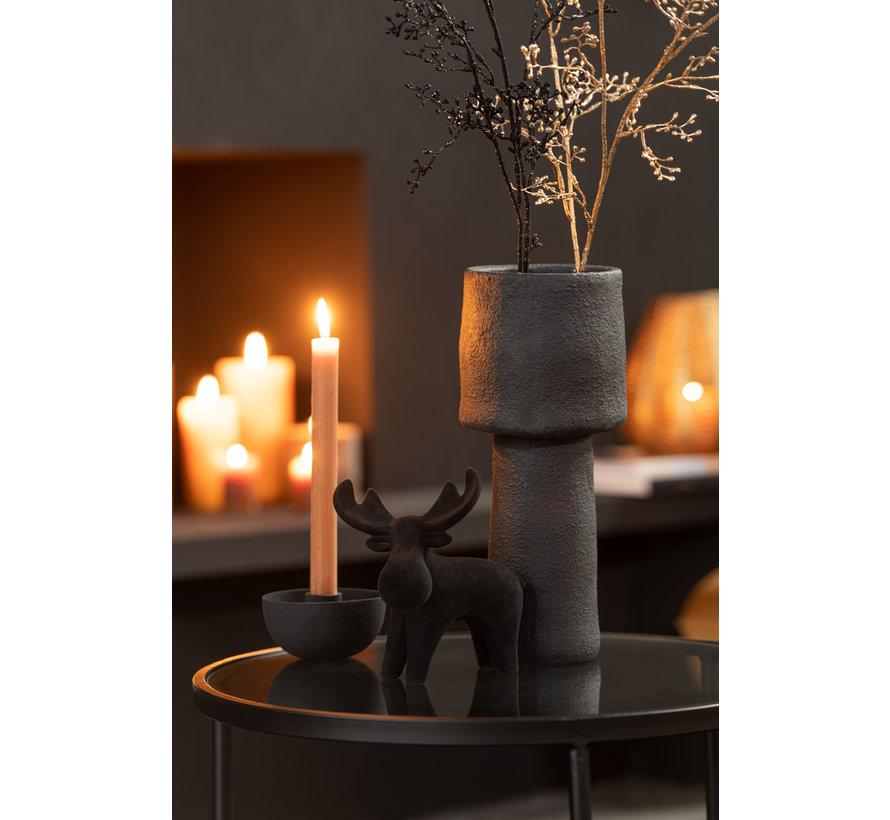 Vase Uneven Cement Black Large