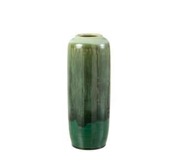 J-Line  Vase Green Ceramic Small
