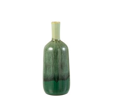 J-Line Bottles Vase Green Ceramic Small