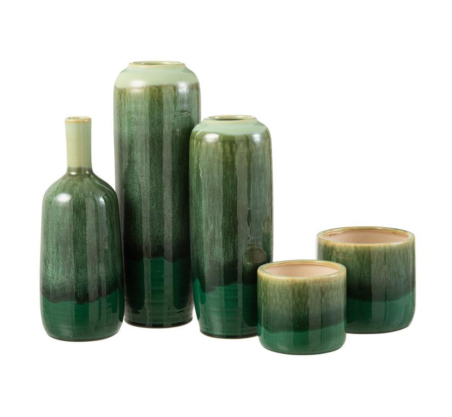 Flessen Vaas Groen Keramiek Small
