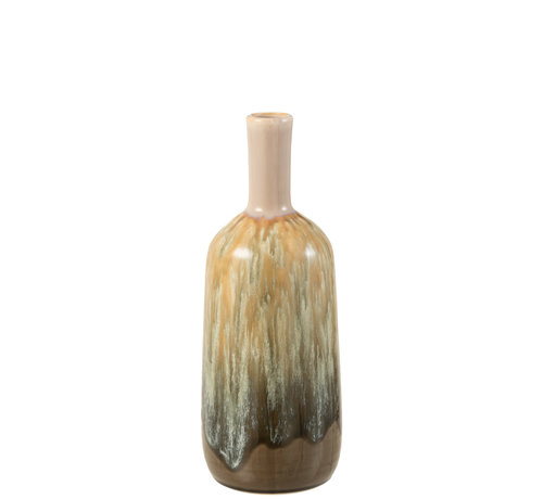 J-Line Bottles Vase Beige Ceramic Small