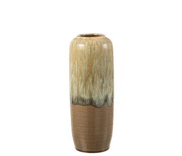 J-Line Vase Beige Ceramic Small