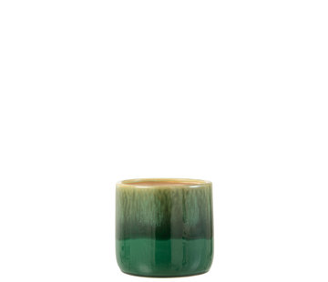 J-Line Flowerpot Green Ceramic Large