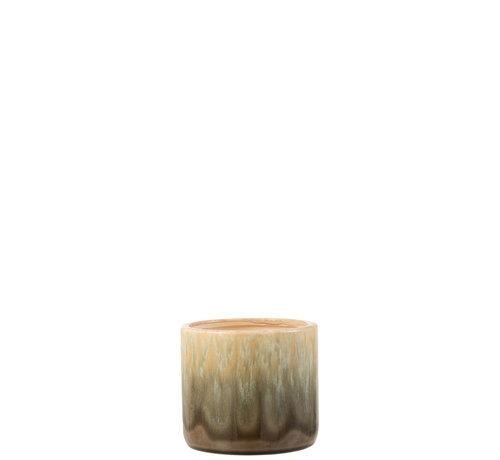 J-Line Flowerpot Beige Ceramic Small