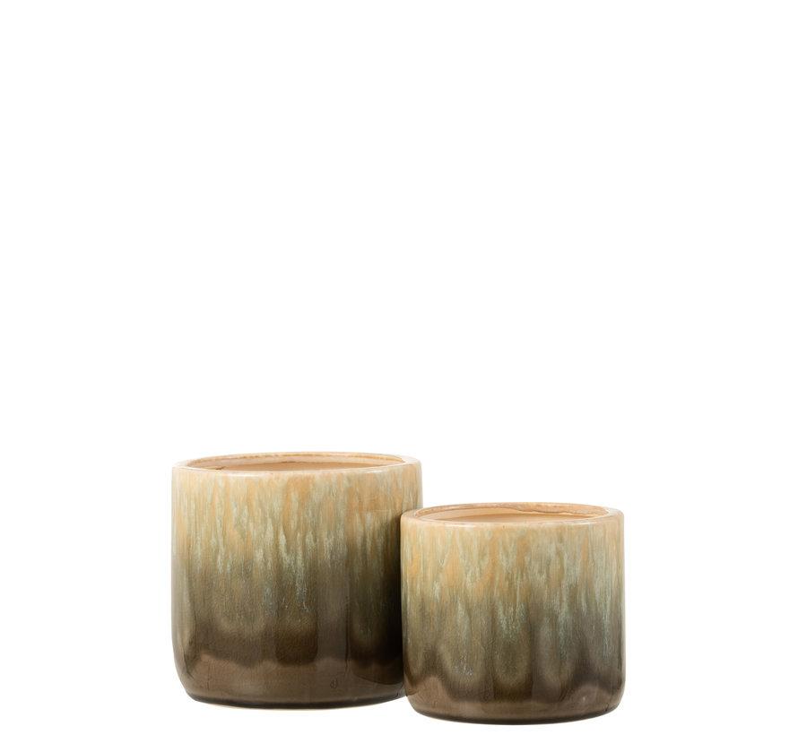 Flowerpot Beige Ceramic Small
