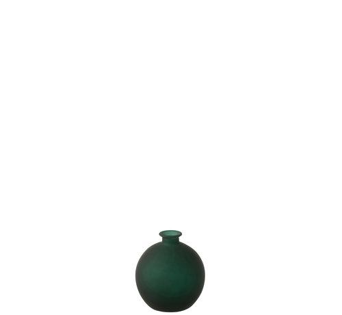 J-Line Bottles Vase Globe Green Glass Small