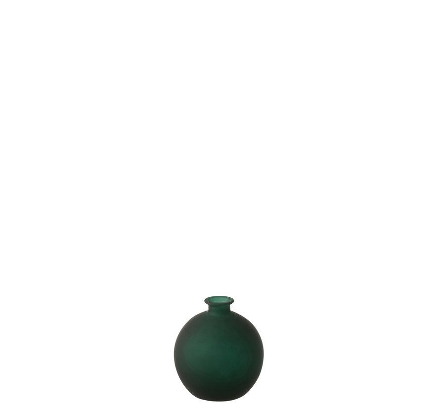 Bottles Vase Globe Green Glass Small