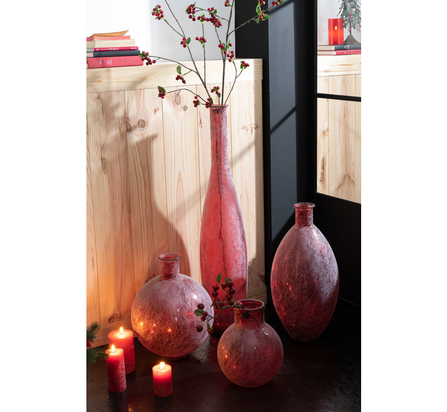 Bottles Vase Red Glass Large