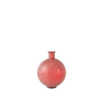 J-Line  Flessen Vaas Rood Bol Glas Large