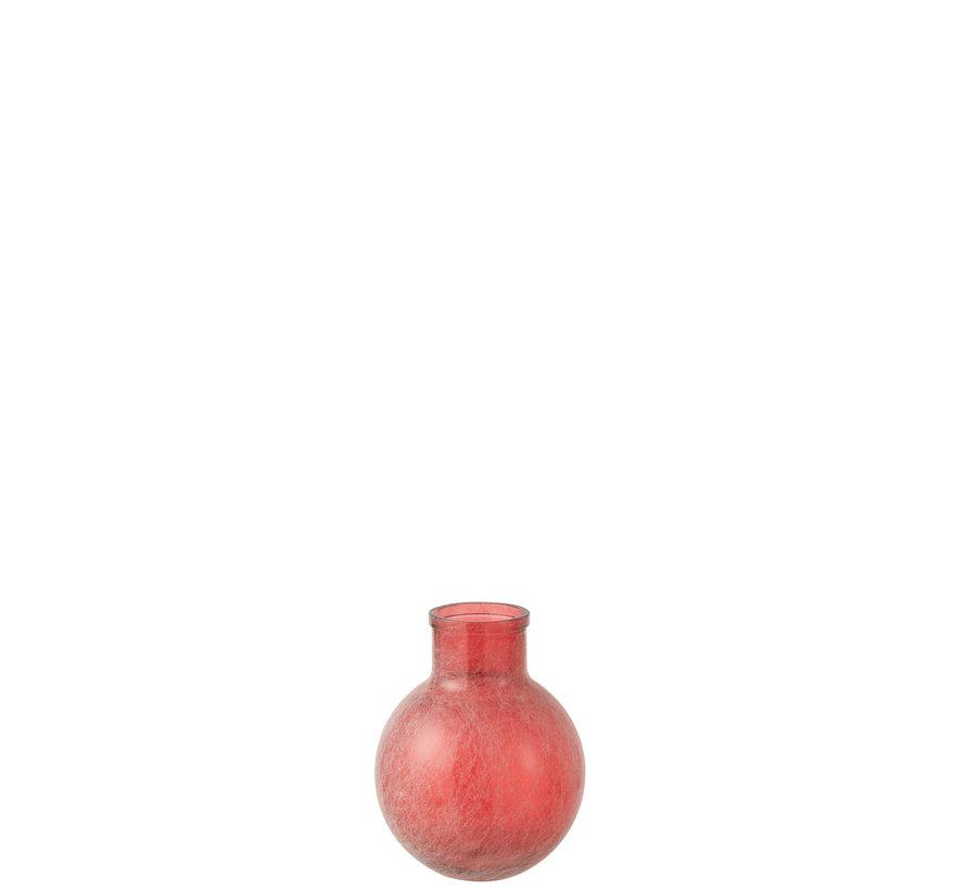 Bottles Vase Red Sphere Glass Small