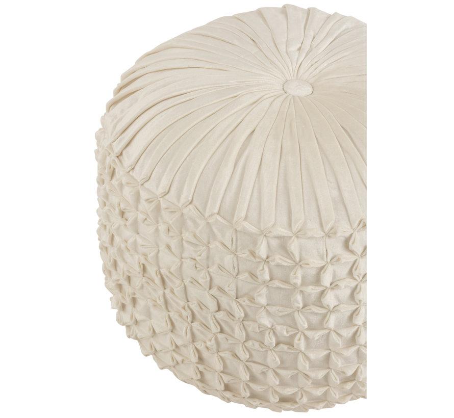 Pouf Round Modern White