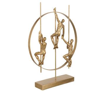 J-Line  Decoration Figure Climbers Gold