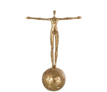 J-Line Decoratie figuur Op Bal Goud