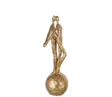 J-Line Decorative Couple On Ball Gold