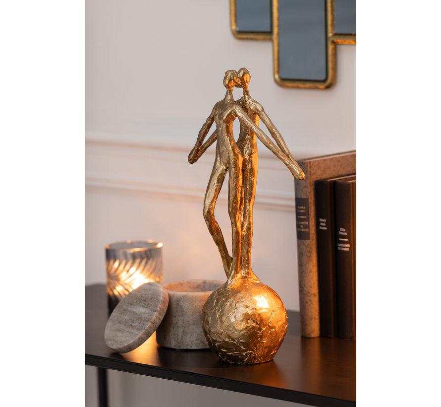 Decoratief Koppel Op Bal Goud