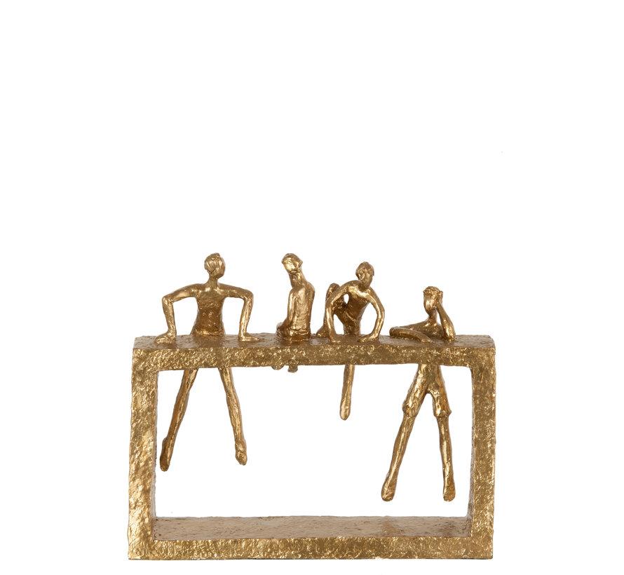 Decoration Four Figures Climbing Gold