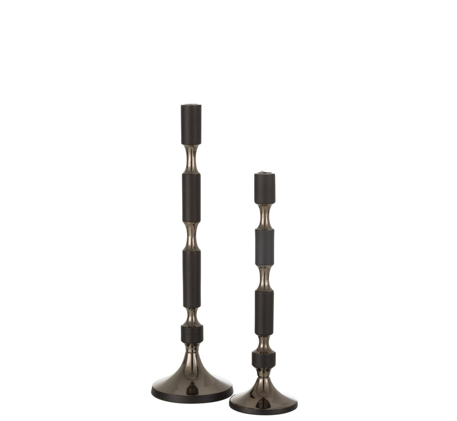 Candlestick Black Gold Small