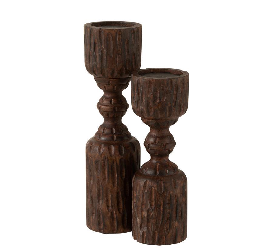 Candle holder Column Mango Wood Large