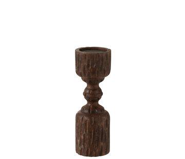 J-Line Candle Holder Column Mango Wood Small