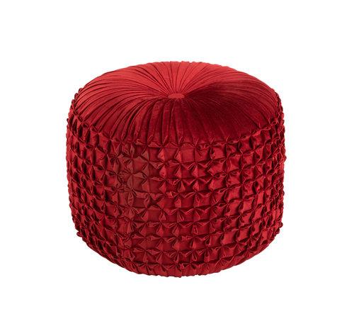 J-Line Pouf Round Modern Red