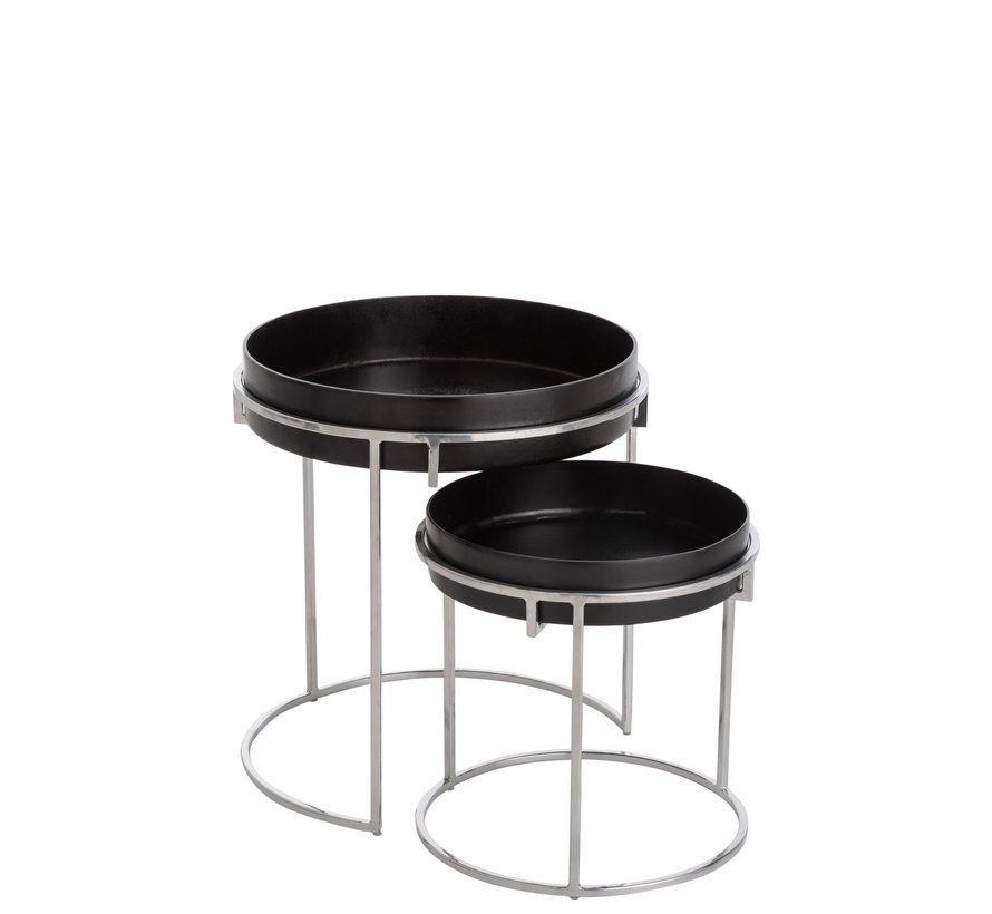 Side tables Round Aluminum Black