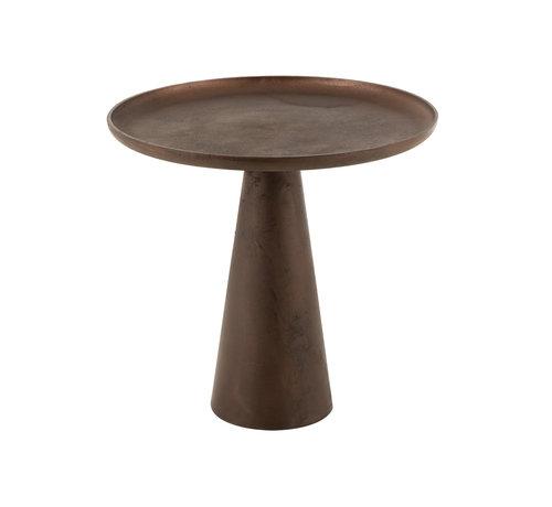 J-Line Side Table Round Dark Brown Large
