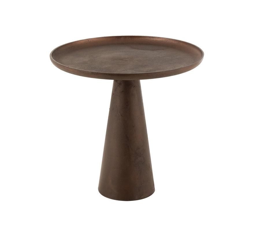 Side Table Round Dark Brown Large