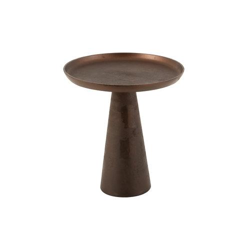 J-Line Side Table Round Dark Brown Medium