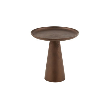 J-Line Side Table Round Dark Brown Small