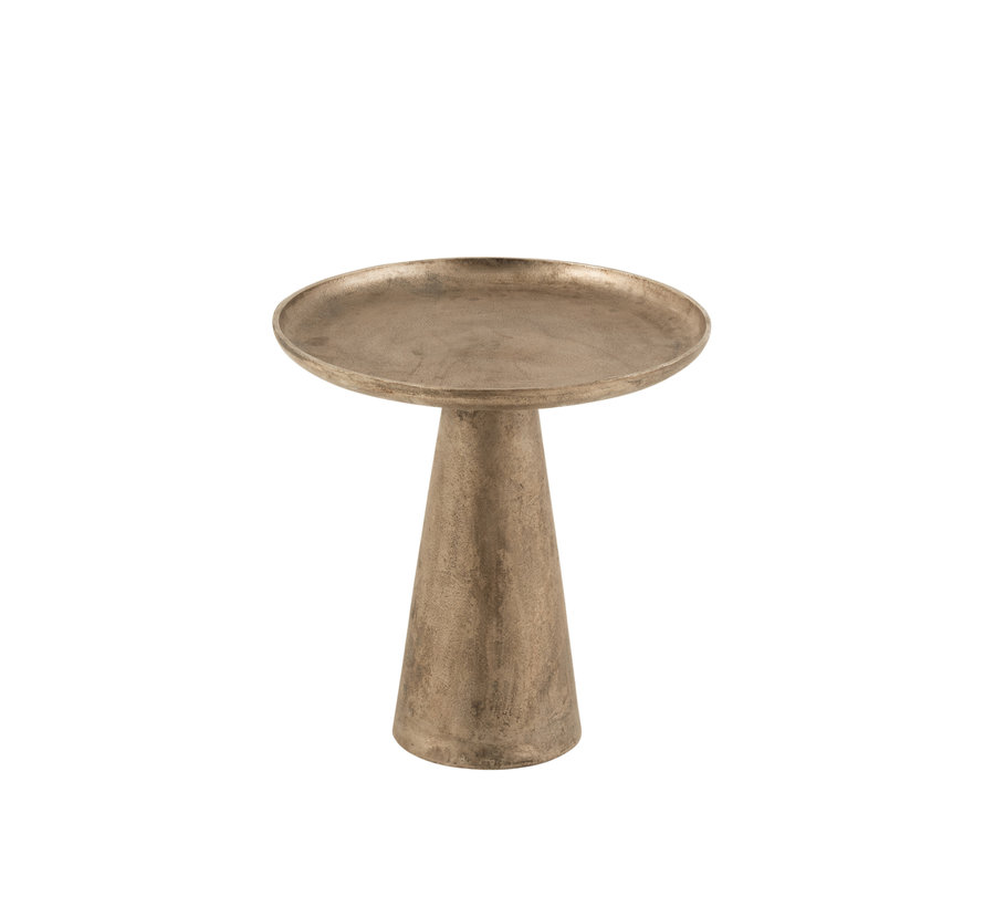 Side Table Round Antique Brown Small