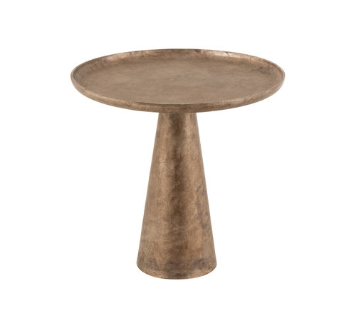 J-Line Side Table Round Antique Brown Large