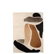 J-Line Muurdecoratie Man Abstract Leder