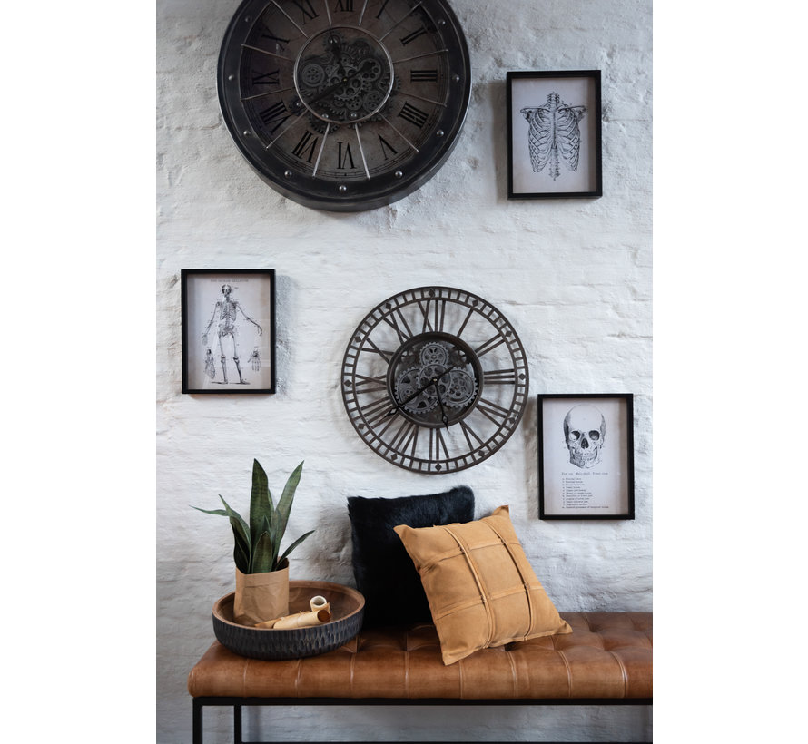 Wall Clock Round Radar Antique Gray