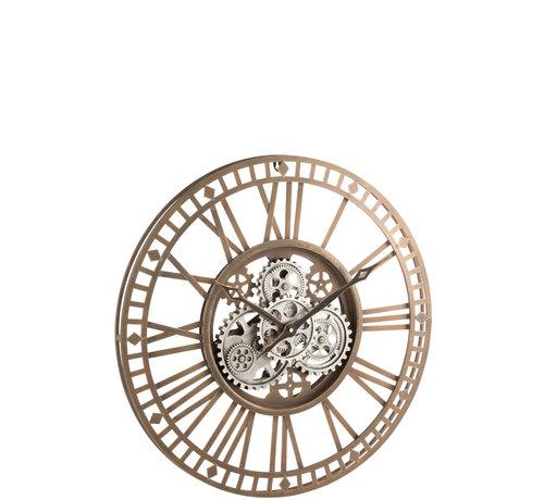 J-Line Wall Clock Round Radar Antique Gold