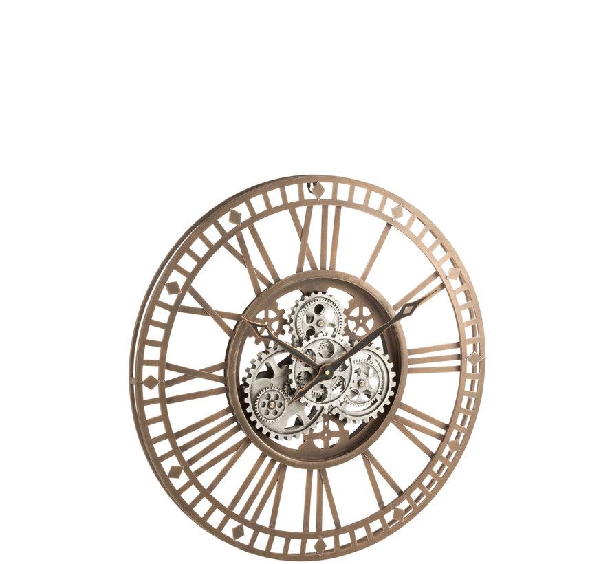Wall Clock Round Radar Antique Gold