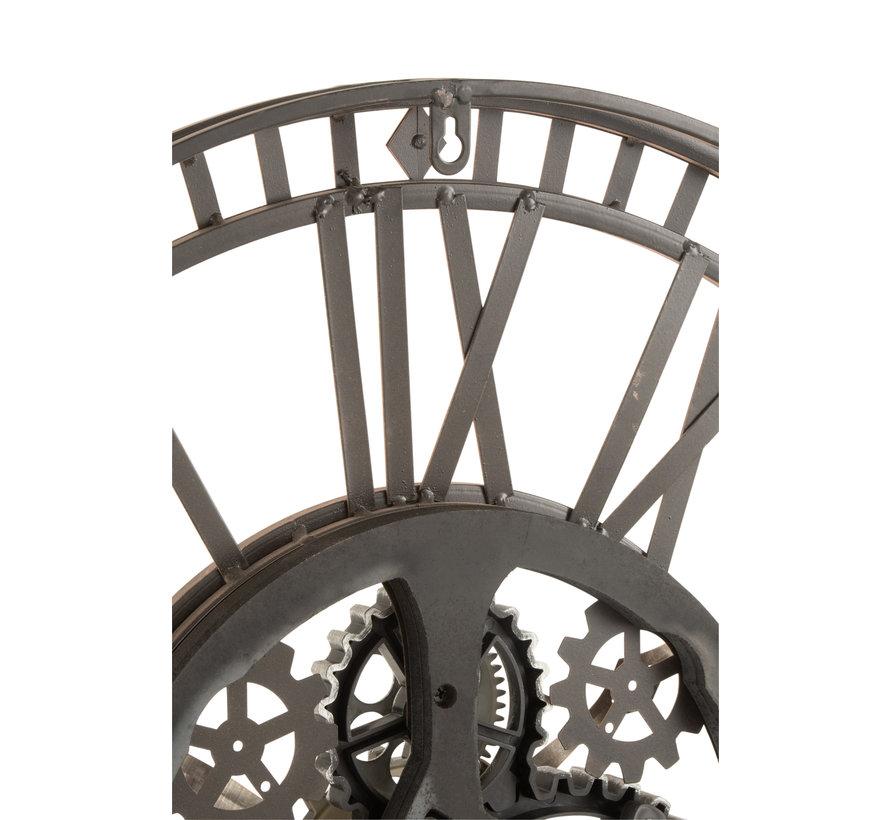Wandklok Rond Radar Antiek Goud