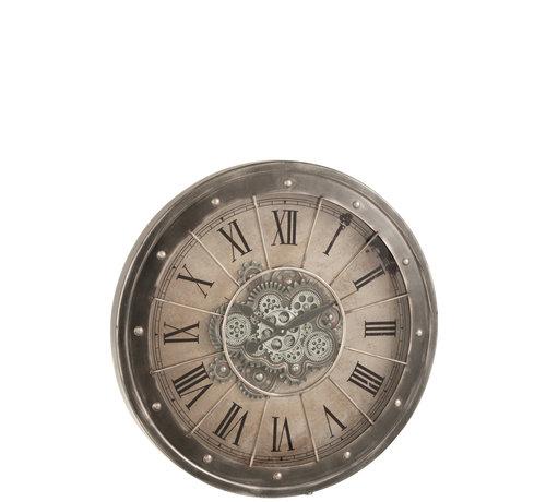 J-Line Wall Clock Round Radar Gray Large