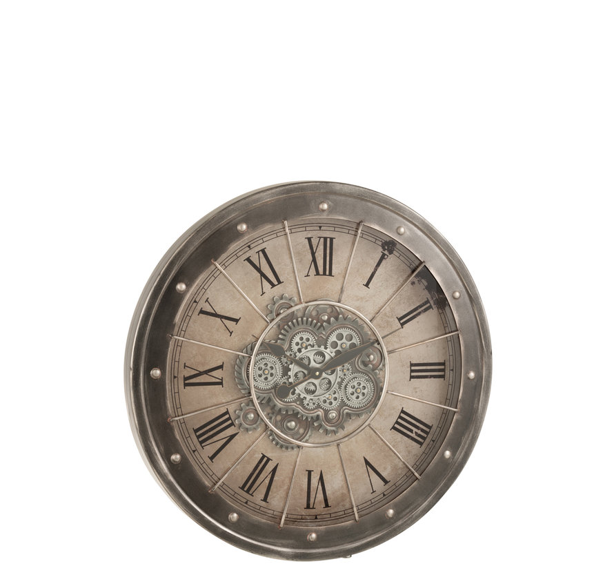 Wall Clock Round Radar Gray Large