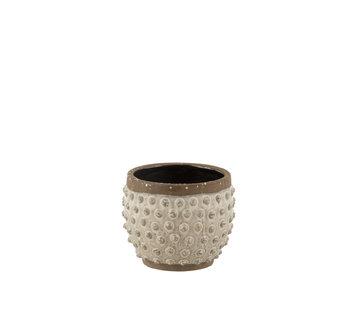 J-Line Flowerpot Round Uneven ceramics Large