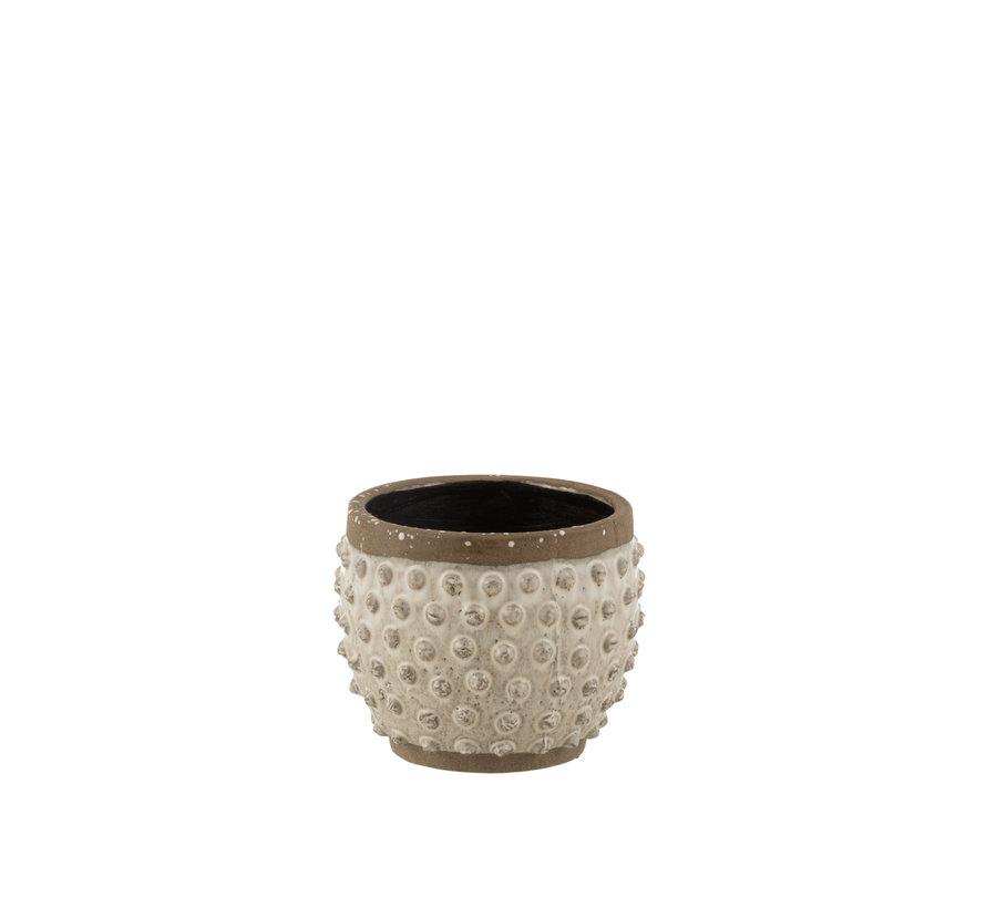 Flowerpot Round Uneven ceramics Large