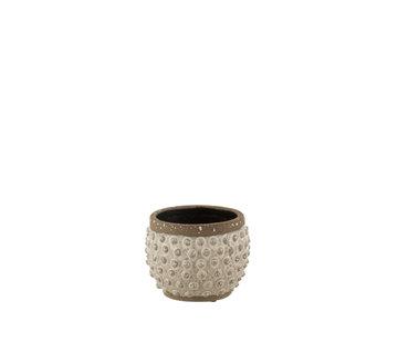 J-Line Flowerpot Round Uneven ceramics Small