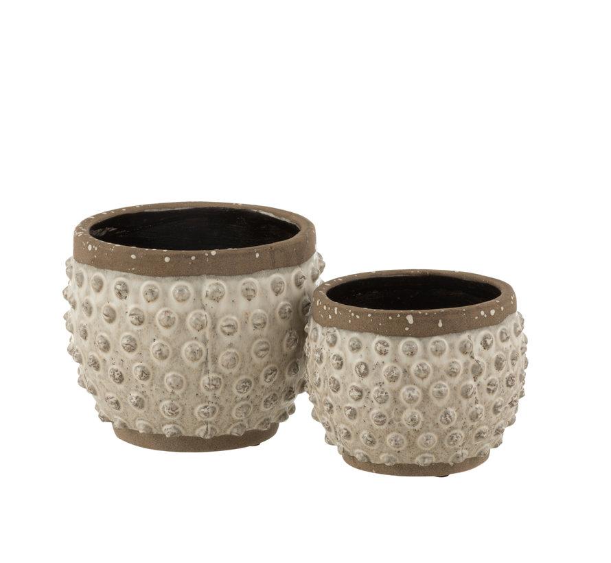 Flowerpot Round Uneven ceramics Small
