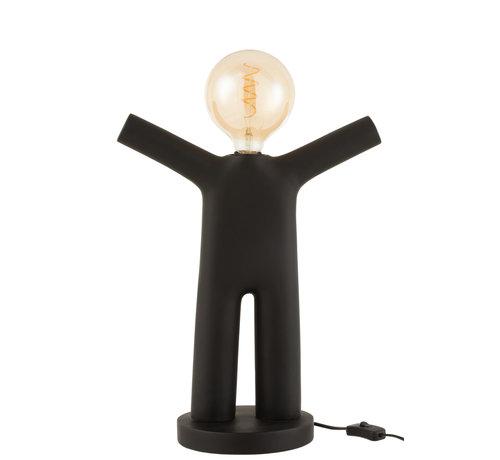 J-Line Table lamp P'tit Maurice Black