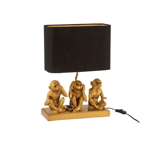 J-Line Table lamp Monkey Hear See Silence