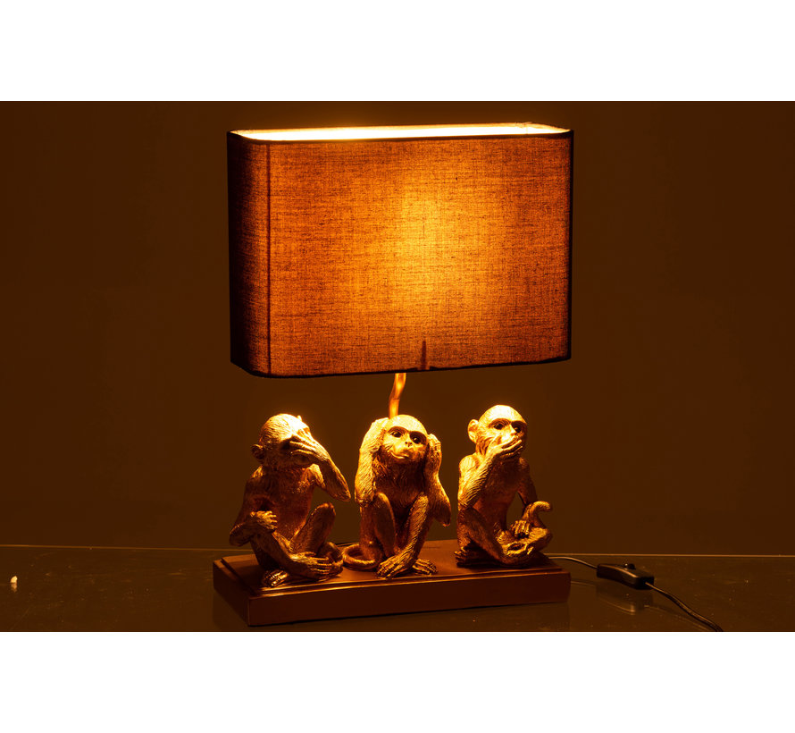 Table lamp Monkey Hear See Silence
